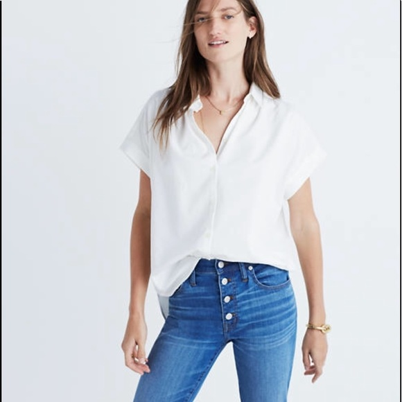 Madewell Tops - MADEWELL Central Oversized Boxy Button Down Shirt